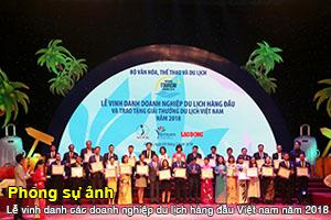 Lễ vinh danh các DNDL năm 2018