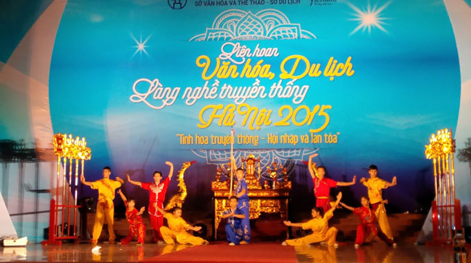Ha Noi Traditional Craft Village Tourism and Culture Festival 2015 kicks off