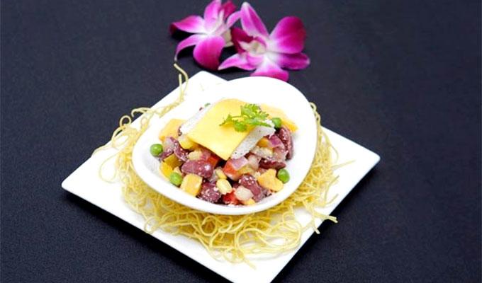 Beans themed vegetarian buffet at Metropole