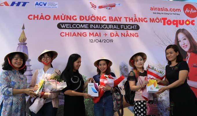 Đà Nẵng chào đón chuyến bay AirAsia đầu tiên từ Chiang Mai