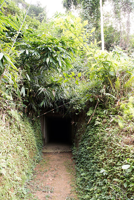 Tunnel and tent of the Late President Ho Chi Minh