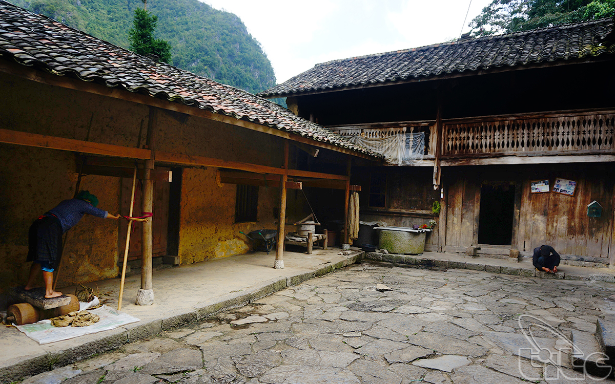 "Two-story house of local ethnic people - the main location in the movie ""Story of Pao"""